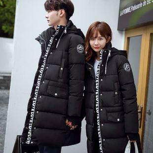 冬装棉衣女长款过膝加厚学生潮流女装大码韩版情侣款棉袄冬季外套