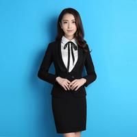 2016韩版职业装女装套装三件套秋冬长袖商务西服修身银行工作服女