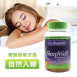 现货美国Vitafusion Sleep Well睡得好倒时差咀嚼睡眠软糖褪黑素