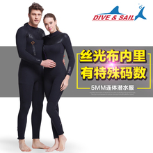 Dive-Sail 5MM丝光布内里保暖潜水服WDS-4132