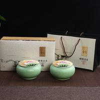 新款大号陶瓷茶叶罐包装礼盒空盒信阳毛 通用干果 糖果罐直销订做