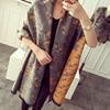 秋冬女士刺绣印花羊毛围巾中青年妈妈款加厚保暖长款两用披肩