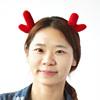 诺琪 毛茸麋鹿鹿角儿童发箍发绳边夹 公主夹头饰发夹圣诞节装饰品