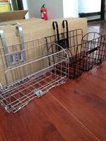 【包邮特价】自行车车筐 山地车篮子 折叠车篓 加粗钢  前后通用