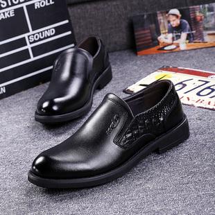 欧美商务休闲皮鞋英伦套脚男鞋内增高皮鞋伐木鞋韩版新款乐福鞋子