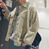 方少男装 春季日系工装夹克复古潮简约帅气上衣青少年外套男