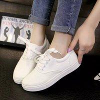 小白鞋韩版学生平底小黑女鞋女百搭布鞋学院秋季女生单鞋系带女童