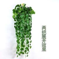 爬山虎壁挂长青仿真植物假花藤条藤蔓装饰绿植墙空调树叶吊篮绿萝