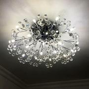 欧式客厅大灯轻奢水晶灯圆形餐厅现代简约led吸顶灯金色卧室灯具