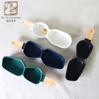 创意陶瓷二格异形碗水果沙拉碗盘 分隔零食碗儿童餐具点心调味碟