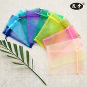 喜糖袋子定制小袋子束口袋多色蜜糖袋透明抽绳包装袋化装品试用袋