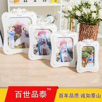 6寸7寸8寸10寸高档欧式古典雕花婚纱照摆台相框塑料影楼创意相框