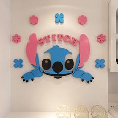 史迪奇3d亚克力卡通立体墙贴客厅玄关儿童房卧室床头动漫壁画墙帖