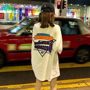 网红上衣服女bf下身失踪百搭2018宽松学生ins短袖t恤