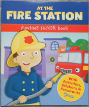 儿童活动书 汽车模型At the fire station funtime sticker book 价格:16.00