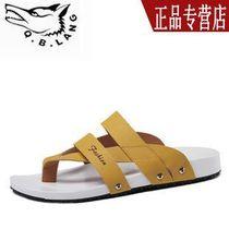 男士拖鞋七匹狼夏季凉鞋真皮正品牌平厚底夹脚拖鞋潮韩版时尚沙滩 价格:128.00