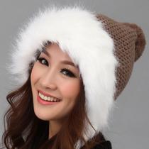 毛线帽子 女 秋冬天可爱时尚韩国韩版保暖护耳针织冬帽  雷锋帽 价格:49.00