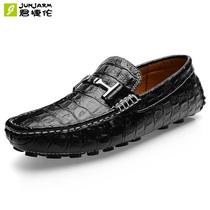 2013秋季新款鳄鱼纹真皮豆豆鞋 男 韩版潮流男鞋休闲鞋皮鞋驾车鞋 价格:108.00