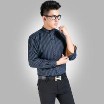 【淘宝清仓】新款男士立领保暖衬衫 加绒加厚商务休闲长袖衬衣 价格:46.80