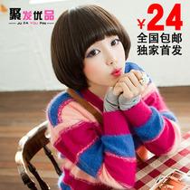 新款蓬松假发短发女生帅气女士jiafa蘑菇头发型时尚哑光丝包邮 价格:24.00