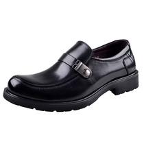 日顺皇男鞋 热卖2013新款 大头商务正装皮鞋 套脚真牛皮610188-11 价格:378.00