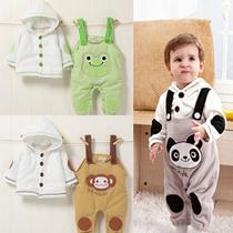 婴儿服装0-1岁春秋装1-2岁男童装一周岁生日装儿童宝宝背带裤套装 价格:59.00