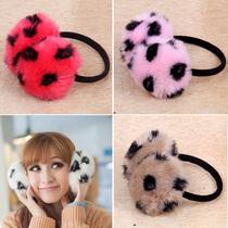 仿狐狸毛冬季保暖耳套防寒耳罩毛耳暖护耳SH可爱白色浅灰色粉红色 价格:6.90