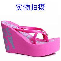 包邮 JUICY人字拖 11cm超高跟坡跟拖鞋 松糕跟凉拖 夏厚底凉鞋女 价格:48.00