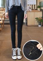 韩国代购现货女韩版潮薄款显瘦小脚裤子修身紧身铅笔裤黑色牛仔裤 价格:110.00