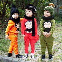 童装 韩国版 秋装新款 男女童 正品 两件儿童运动服休闲套装 价格:29.99