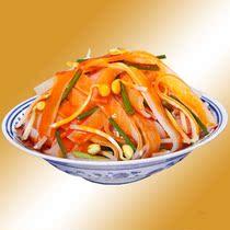【佳佳食品】陕西特产神厨岐山擀面皮凉皮西安特色小吃 300g包邮 价格:20.00