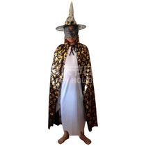 化妆舞会用品儿童万圣节服装魔法披风巫婆披风巫婆帽巫师帽 价格:15.00