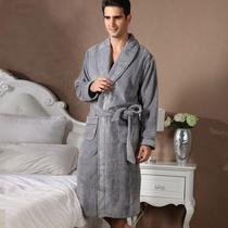 秋冬男士加厚珊瑚绒 包邮深色纯色保暖加加大码长睡袍浴袍 49美金 价格:79.00