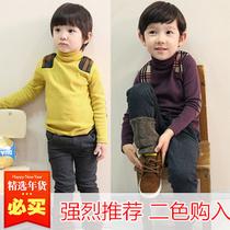 新款童装秋冬装 儿童高领针织打底衫 男童加厚全棉针织衫长袖外套 价格:39.00
