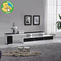 方合子电视柜 经典黑白钢琴烤漆伸缩简约组合地柜视听柜 钢化玻璃 价格:1050.00