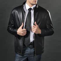 续写男装 男式皮衣真皮特价新款休闲皮夹克短款修身立领皮外套男 价格:268.00
