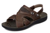 美国宾度 高档真皮凉鞋男士沙滩鞋 (100%头层牛皮)22311 包邮 价格:218.00
