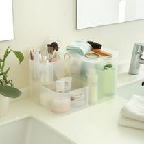 日本大创浴室梳妆台PP化妆盒 层叠化妆品收纳盒MUJI无印良品同款 价格:6.00