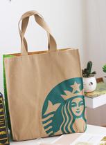 特出口定单日本星巴克2013新 Starbucks 帆布包单肩袋购物袋 大号 价格:39.50