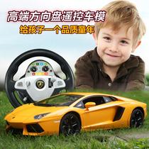 双鹰兰博基尼方向盘遥控车超大充电漂移遥控汽车赛车儿童玩具车 价格:165.00