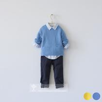 [植木制]秋装 中性款 韩版儿童纯色套头毛衣 很好看的织法 价格:66.00