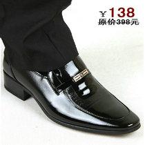 商务红蜻蜓男鞋休闲皮鞋男真皮正品清仓软英伦潮韩夏季黑透气包邮 价格:138.00