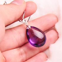 朕殿包邮 巴西天然紫水晶吊坠 925银项链子 紫水晶项链 高贵浪漫 价格:119.00