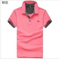 2013新款男装正品男士短袖T恤纯色休闲立领纯棉T恤polo衫 价格:38.00