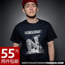 Rebel8美国潮牌纹身t恤tattoo独家西海岸滑板男装圆领T恤宽松修身 价格:55.00