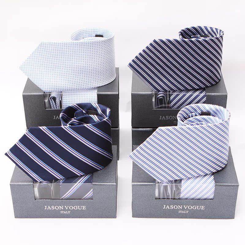 JASONVOGUE 纳米防水顶级桑蚕丝领带男士商务正装真丝领带套装 价格:108.00