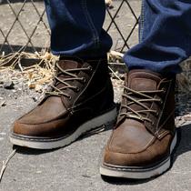 秋冬潮流男靴子 英伦男士马丁靴真皮工装靴 韩版短靴军靴雪地靴男 价格:178.35