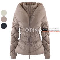 欧美外贸原单休闲修身菱形面包领防风袖口棉衣带腰带有大码2B04 价格:128.00