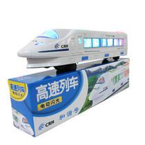 儿童益智玩具0-3岁电动玩具和谐号地铁列车带彩灯音乐万向火车 价格:10.50