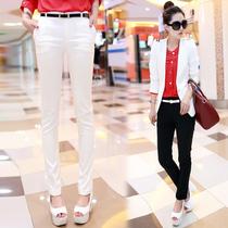 韩版2013女式裤子 新款潮秋 黑色长裤 弹力显瘦小脚裤 西装裤 女 价格:89.00